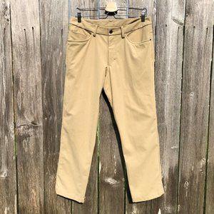 Lululemon ABC Warpstreme Pants Khaki Altered 32x27